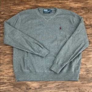 NEW Gray Polo Ralph Lauren Crewneck Sweater